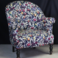Fauteuil crapaud tissu Liberty
